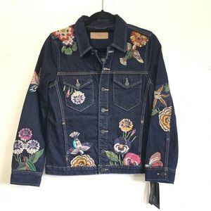 Blank NYC Culture Vulture Embroidered Jean Jacket
